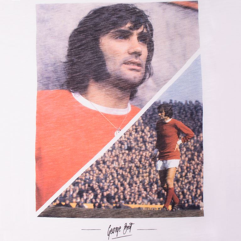 6760 | George Best Manchester T-Shirt | White  | 2 | COPA