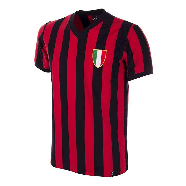 106 | Milan 1960's Short Sleeve Retro Football Shirt | 1 | COPA