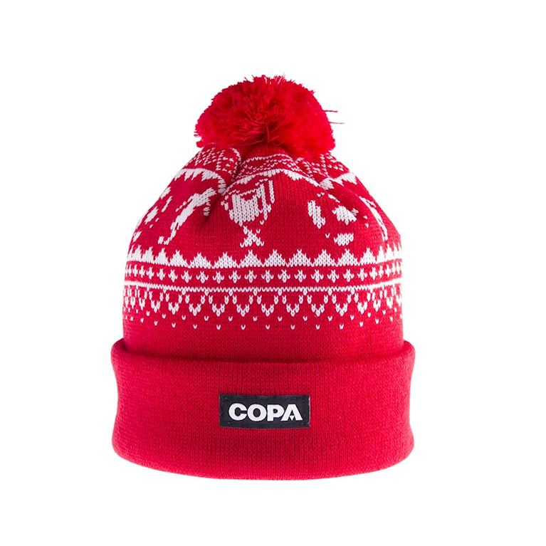 5003 | Nordic Knit Beanie | Red-White | 1 | COPA