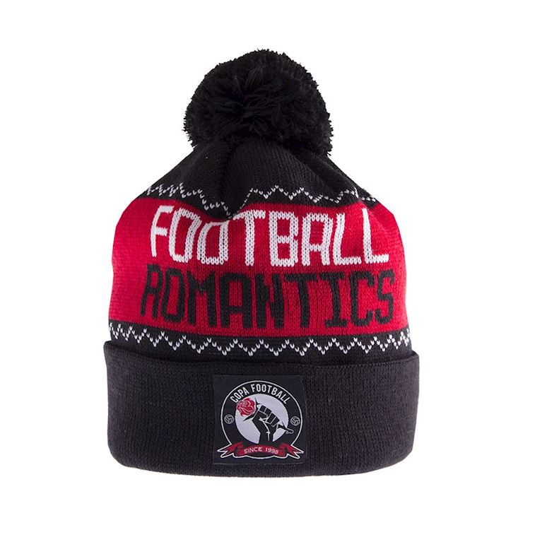 5010 | Football Romantics Beanie | Black-White-Red | 1 | COPA