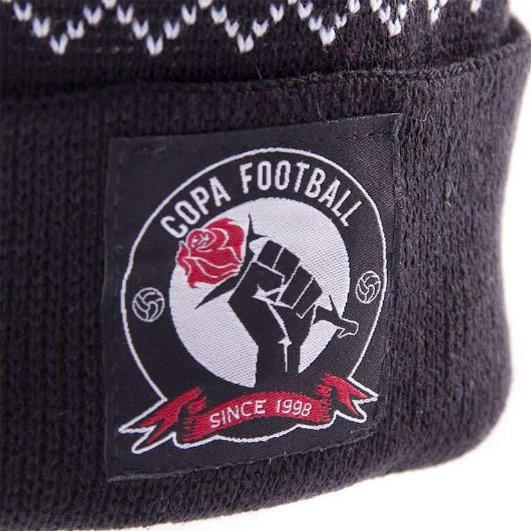 5010 | Football Romantics Beanie | Black-White-Red | 2 | COPA