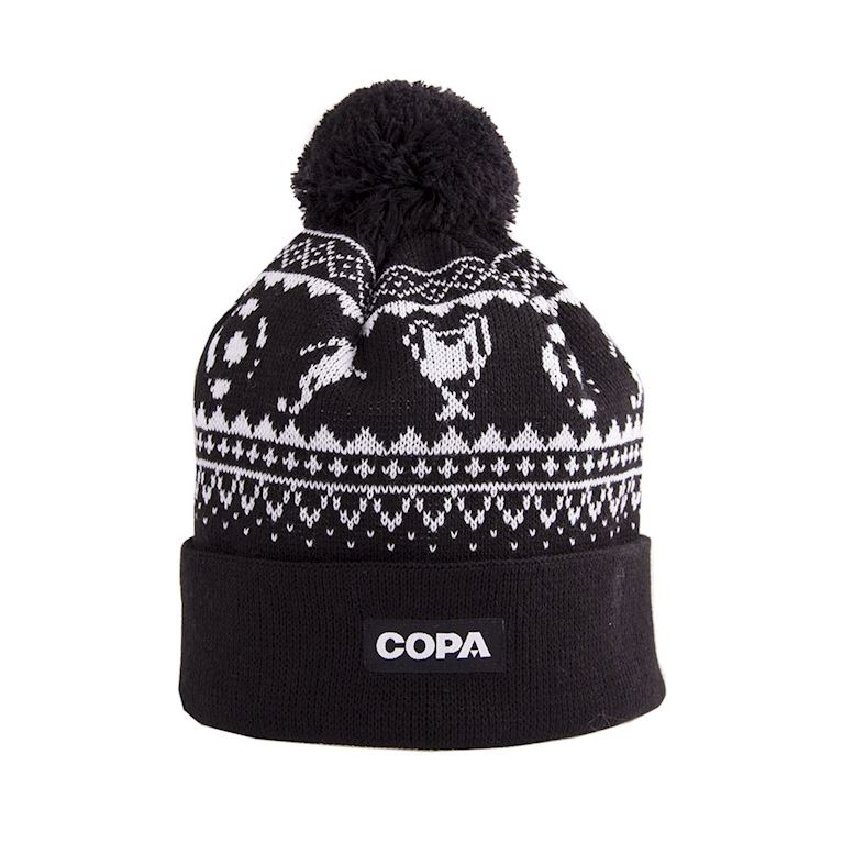5007   Nordic Knit Beanie   Black-White   1   COPA