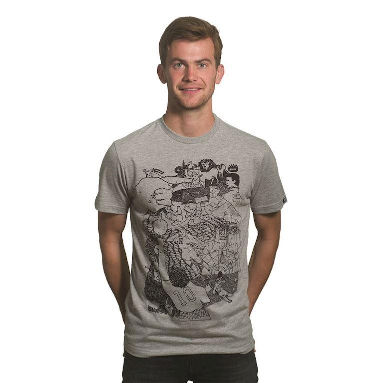 6651 | Off-Foot T-Shirt | Grey Mêlée | 1 | COPA
