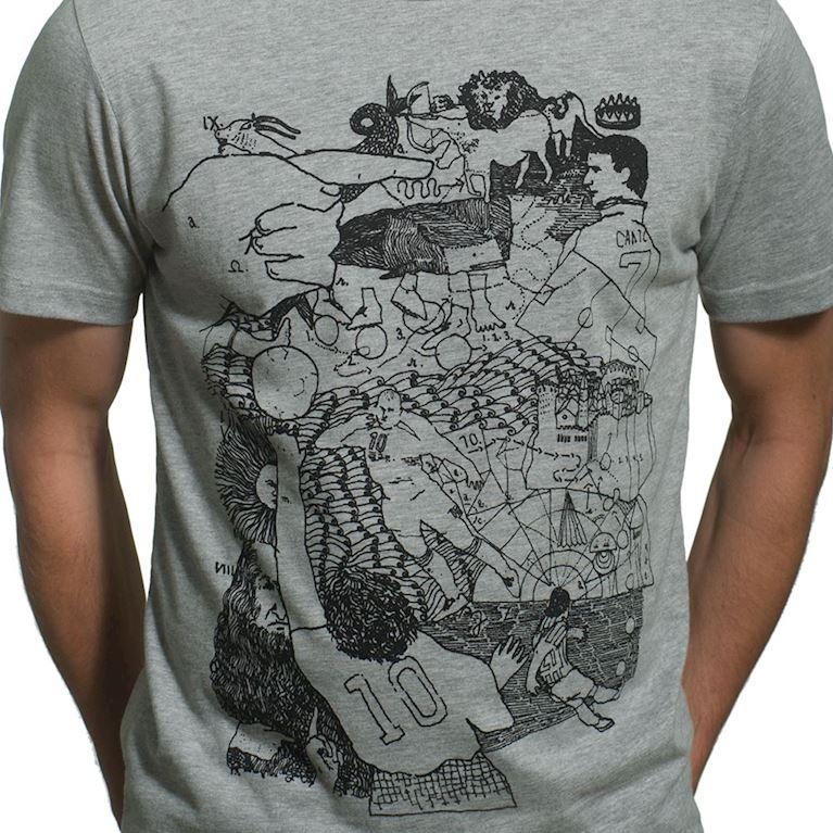 6651 | Off-Foot T-Shirt | Grey Mêlée | 2 | COPA