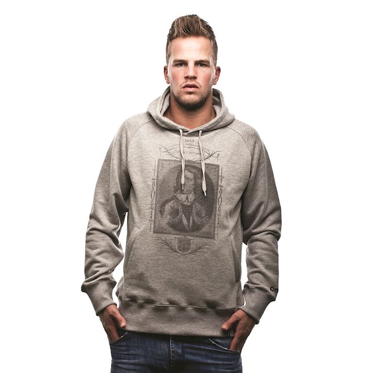 6429 | Oliver Cromwell Hooded Sweater | Grey Mêlée  | 1 | COPA