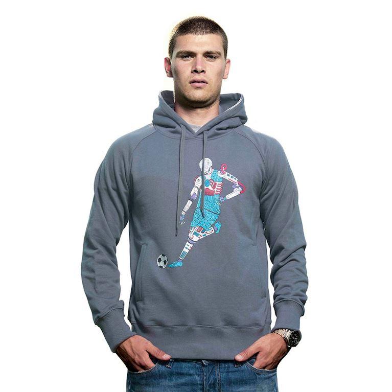 6416 | Robot Hooded Sweater | Dark Grey | 1 | COPA