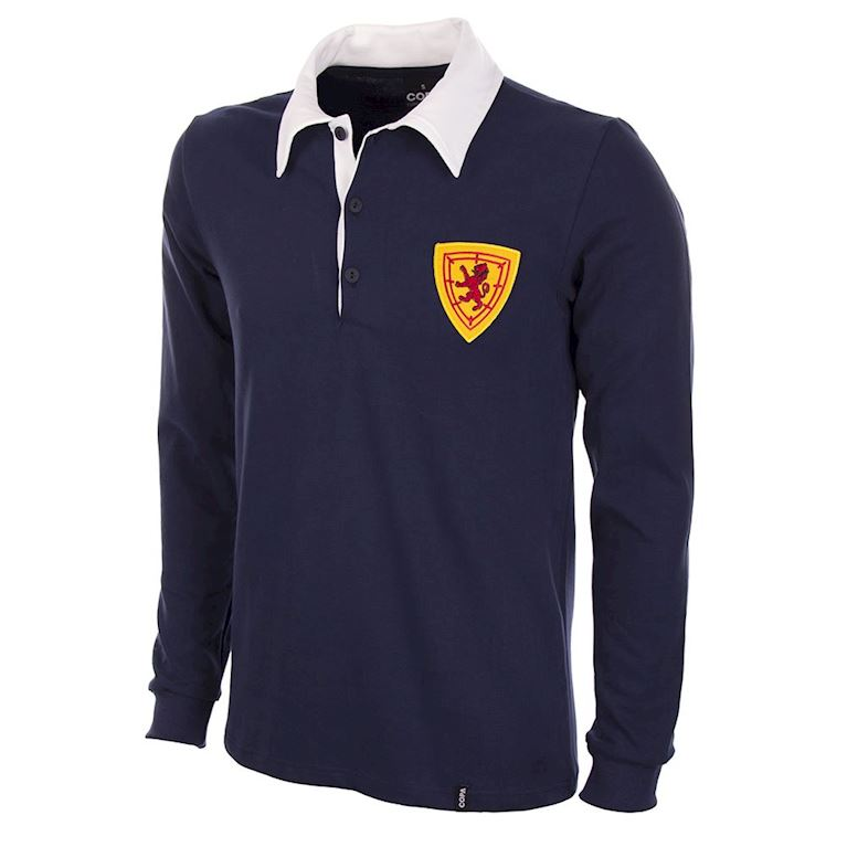 593 | Scotland 1950's Long Sleeve Retro Football Shirt  | 1 | COPA