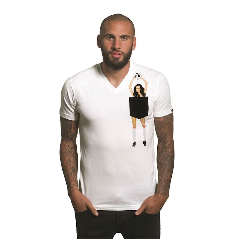 6666 | Secret Pocket V-Neck T-Shirt | White  | 1 | COPA