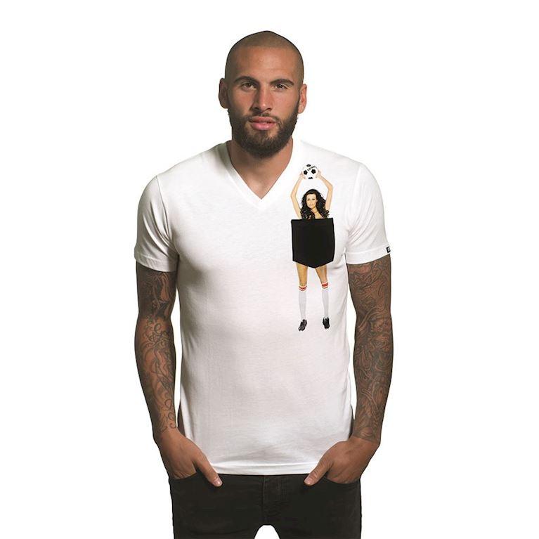 6666 | Secret Pocket V-Neck T-Shirt | White | 1 | COPA