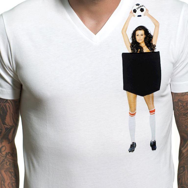 6666 | Secret Pocket V-Neck T-Shirt | White | 2 | COPA