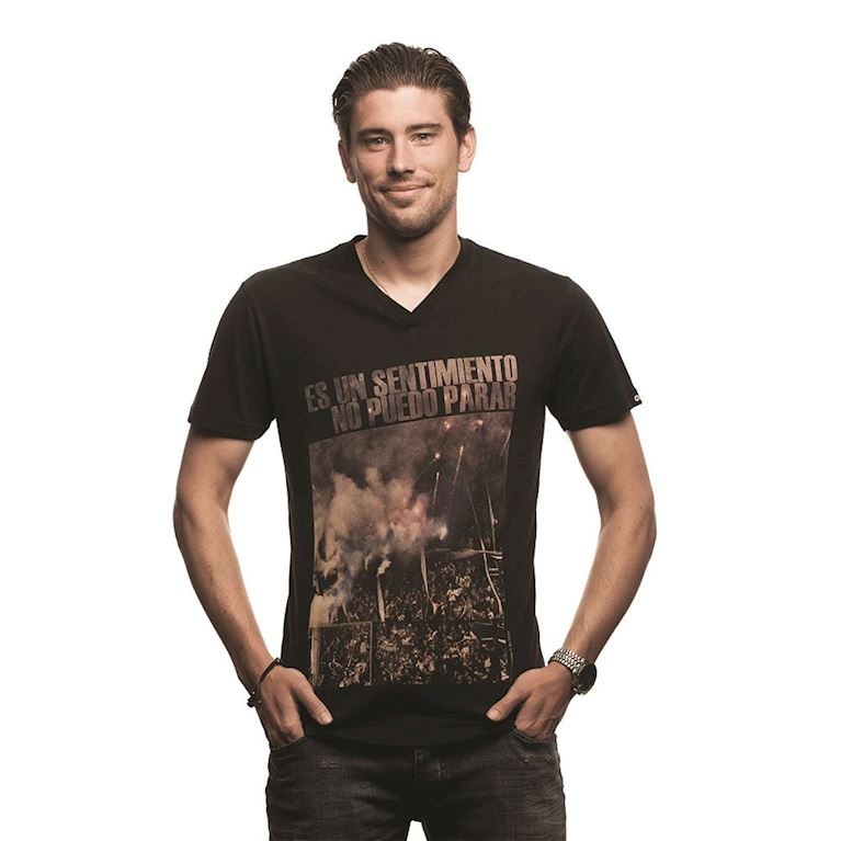 6636 | Sentimiento V-Neck T-Shirt | Black | 1 | COPA