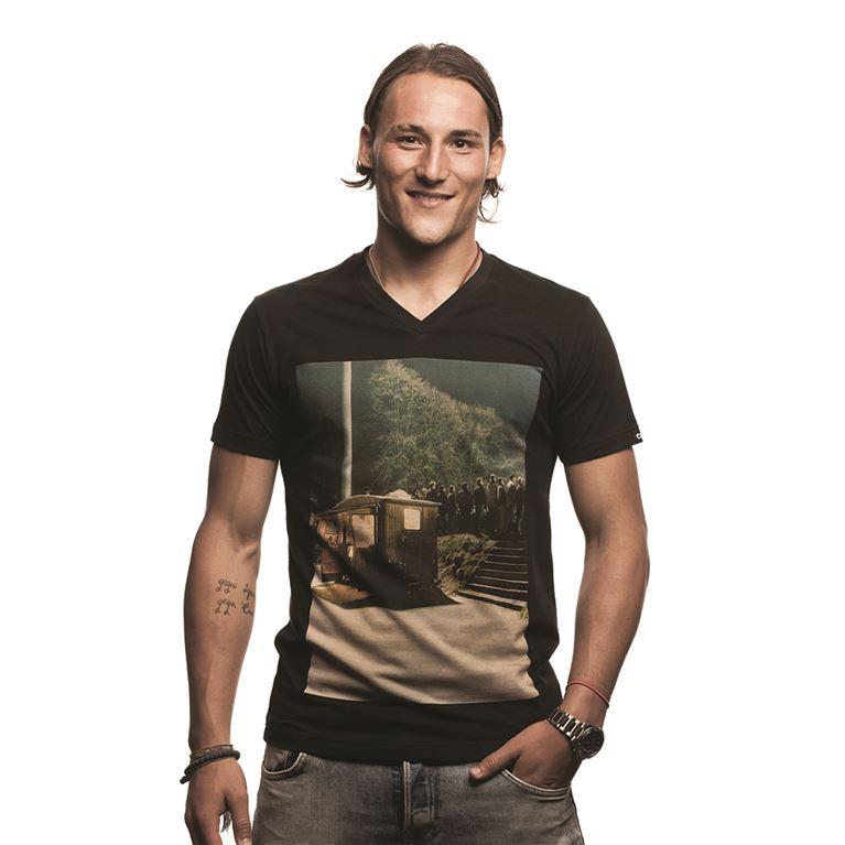 6624 | Snack Bar V-Neck T-Shirt | Black | 1 | COPA