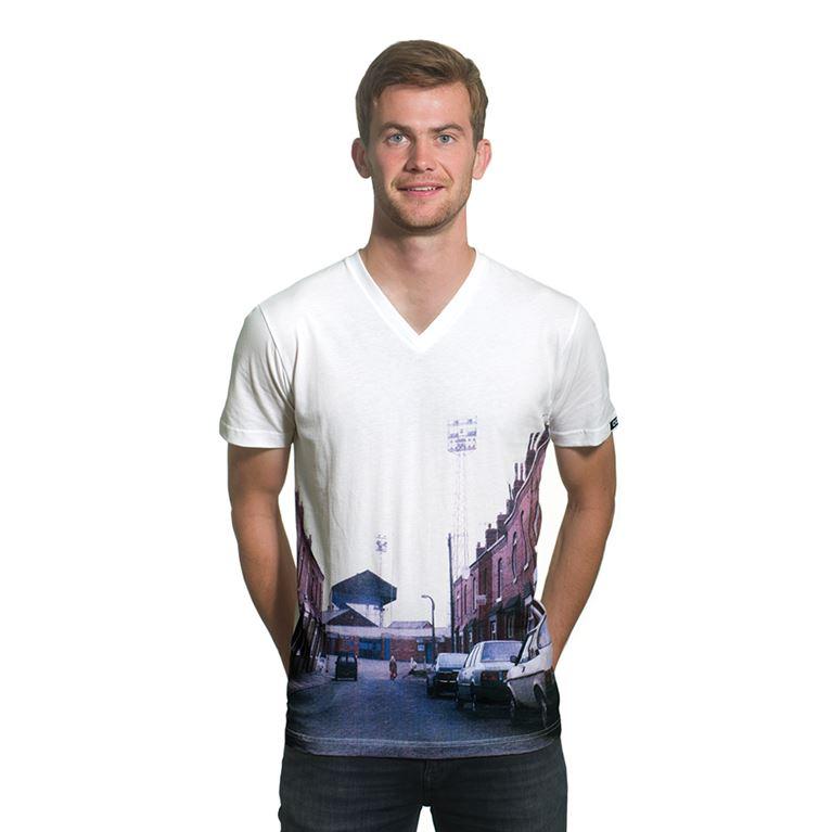 6655 | Stadium Street View V-Neck T-Shirt | White | 1 | COPA