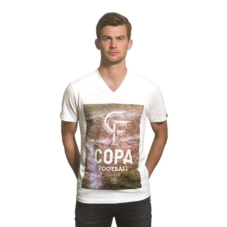 6647 | Studs V-Neck T-Shirt | White | 1 | COPA