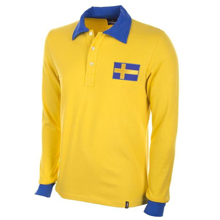 636 | Sweden World Cup 1958 Long Sleeve Retro Football Shirt | 1 | COPA