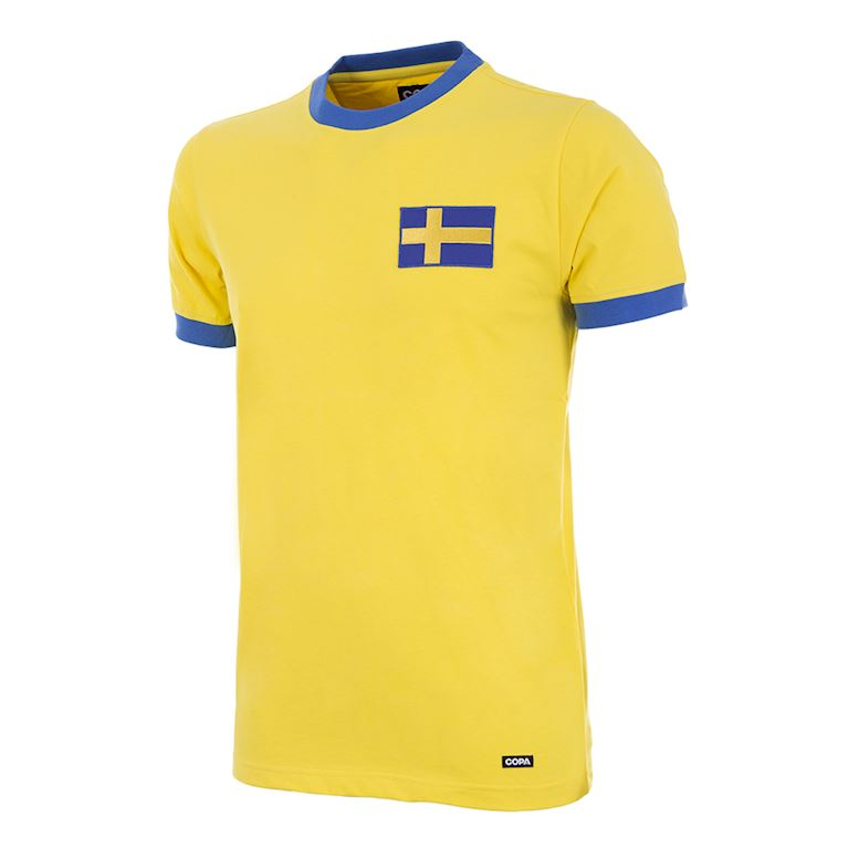 637 | Sweden 1970's Short Sleeve Retro Football Shirt | 1 | COPA