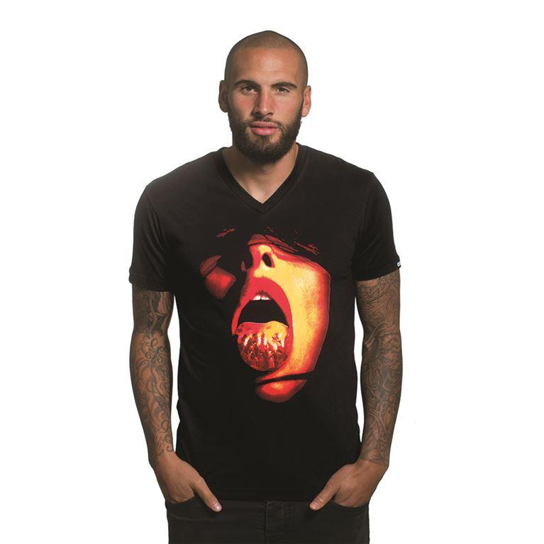6656 | Tongue V-Neck T-Shirt | Black | 1 | COPA