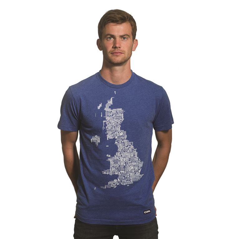 6665 | UK Grounds T-Shirt | Blue Mêlée 100% cotton | 1 | COPA