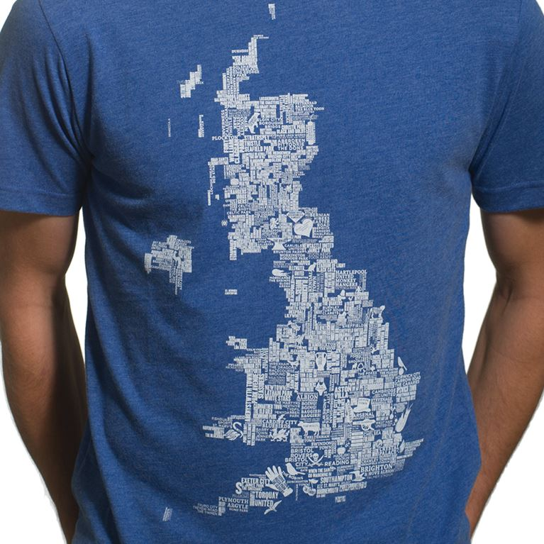 6665 | UK Grounds T-Shirt | Blue Mêlée 100% cotton | 2 | COPA