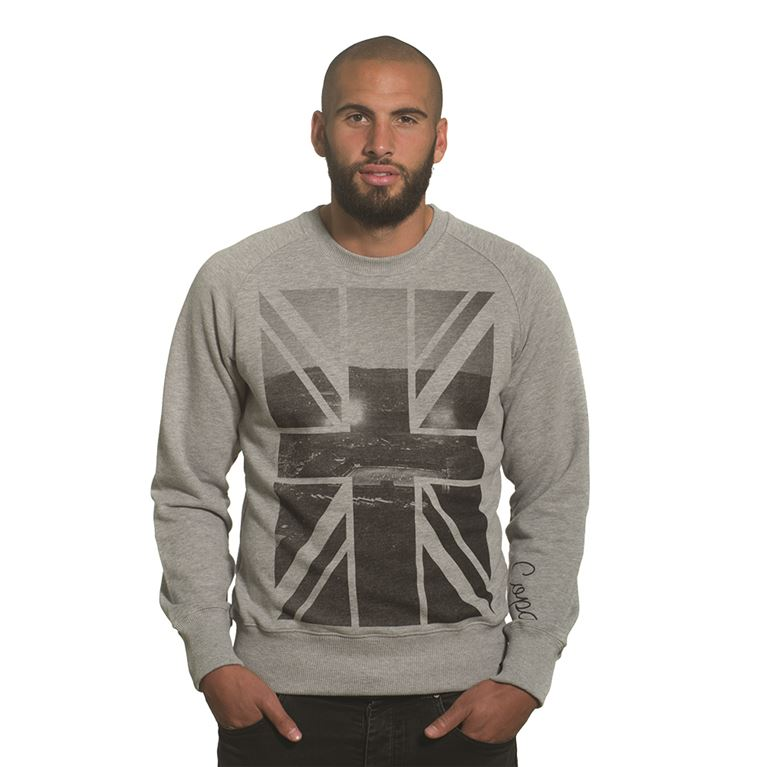 6445 | Union Jack Sweater | Grey Mêlée | 1 | COPA