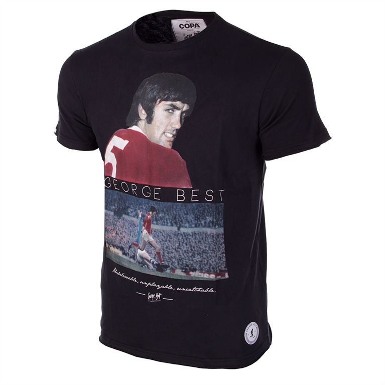 6764 | George Best United T-Shirt | Black | 1 | COPA