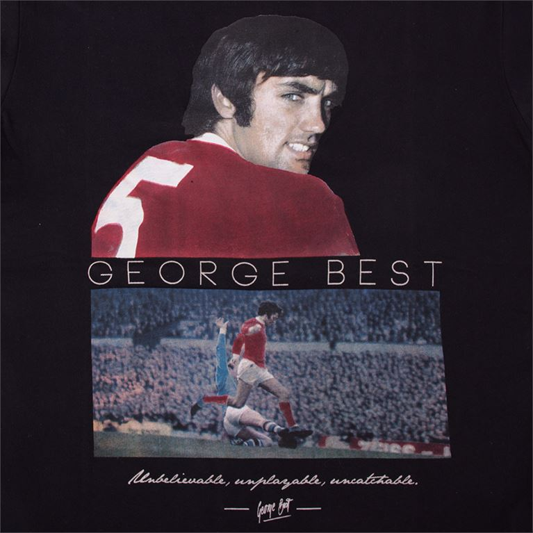 6764 | George Best United T-Shirt | Black | 2 | COPA