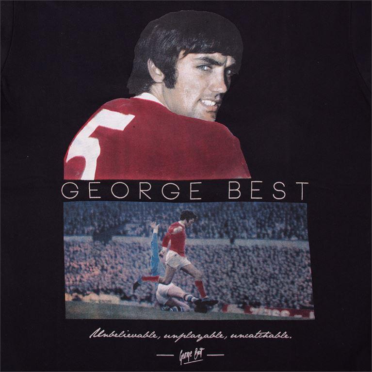 6764 | George Best United T-Shirt | Black | 2 | COPA