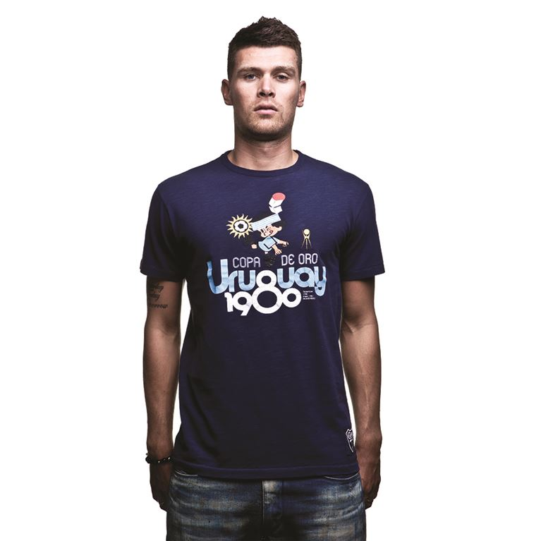 6709 | Uruguay 1980 Vintage T-Shirt | Marine Blue | 1 | COPA