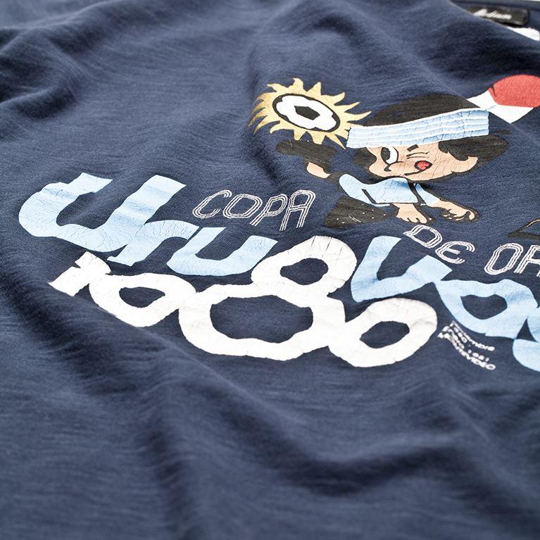 6709 | Uruguay 1980 Vintage T-Shirt | Marine Blue | 2 | COPA