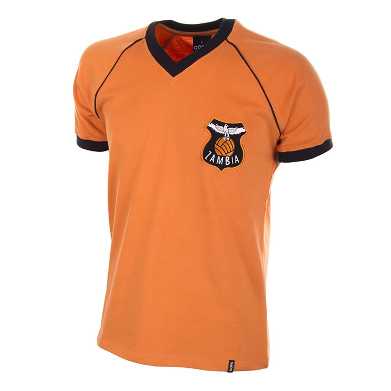 696 | Zambia 1980's Short Sleeve Retro Football Shirt  | 1 | COPA