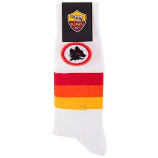 as-roma-away-retro-sock-white | 2 | COPA