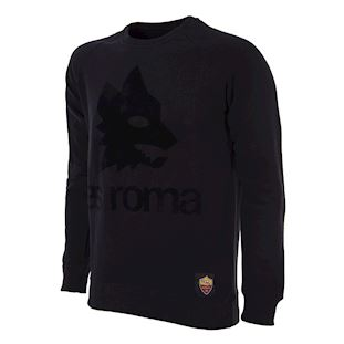 as-roma-black-out-retro-logo-sweater-black | 1 | COPA