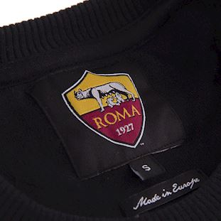 AS Roma Black Out Retro Logo Sweater | 3 | COPA