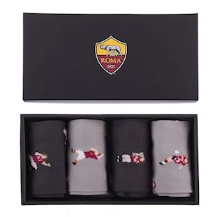 AS Roma Casual Socks Box Set | 1 | COPA