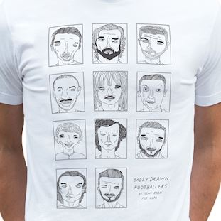 6778 | Badly Drawn Footballers T-Shirt | White | 2 | COPA