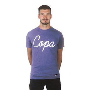 6690 | COPA Script T-Shirt | Blue Mêlée | 1 | COPA