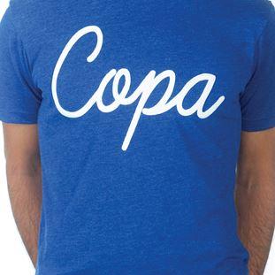 6690 | COPA Script T-Shirt | Blue Mêlée | 2 | COPA