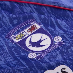 Cardiff City FC 1993 Retro Football Shirt | 3 | COPA
