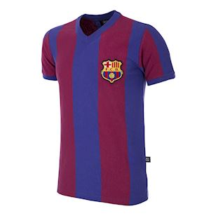 725 | FC Barcelona 1955 - 56 Short Sleeve Retro Football Shirt | 1 | COPA