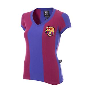 FC Barcelona 1976 - 77 Womens Retro Football Shirt | 1 | COPA