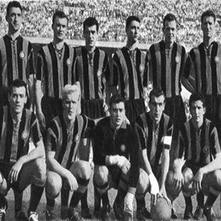 709   FC Internazionale 1958 - 59 Short Sleeve Retro Football Shirt   2   COPA