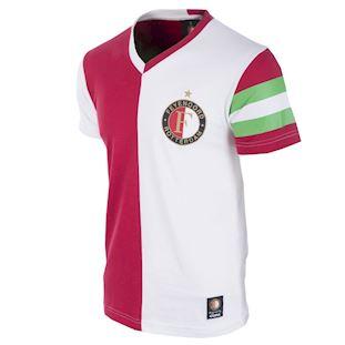 1248 | Feyenoord Captain V-neck T-Shirt // White-Red 100% cotton | 1 | COPA