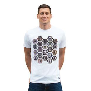 6750 | Hexagon Stadium T-Shirt | White | 1 | COPA