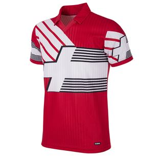 228 | Switzerland 1990 - 92 Short Sleeve Retro Football Shirt | 1 | COPA