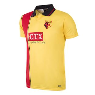 Watford FC 1997 - 98 Retro Football Shirt   1   COPA