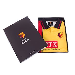 Watford FC 1997 - 98 Retro Football Shirt   6   COPA