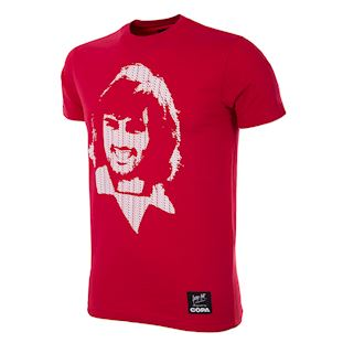 6751 | George Best Repeat Logo T-Shirt | Red | 1 | COPA