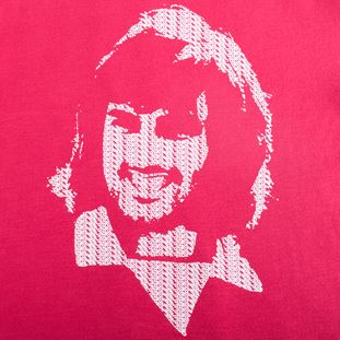 6751 | George Best Repeat Logo T-Shirt | Red | 2 | COPA