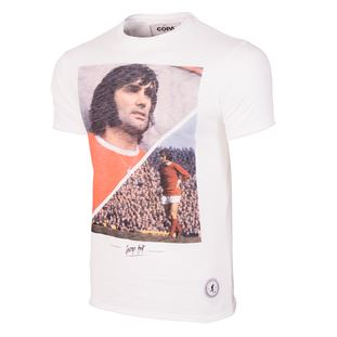 6760 | George Best Manchester T-Shirt | White | 1 | COPA