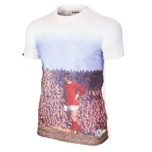 6763 | George Best Manchester All Over Print T-Shirt | White | 1 | COPA